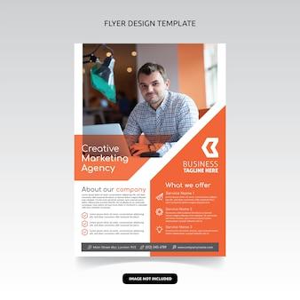 Design de modelo de cartaz criativo flyer agência de marketing