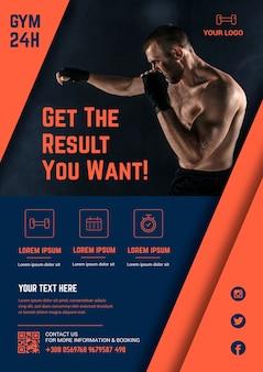 Design de modelo de cartaz de esporte