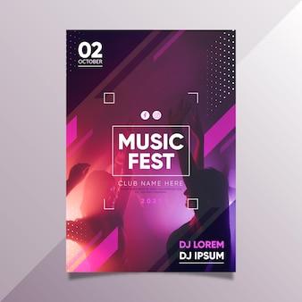 Design de modelo de cartaz de evento de música 2021