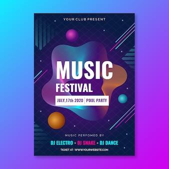 Design de modelo de cartaz de música