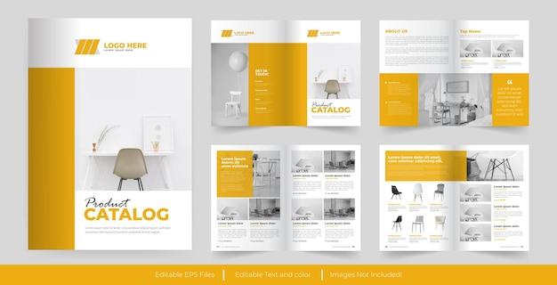 Design de modelo de catálogo de produtos