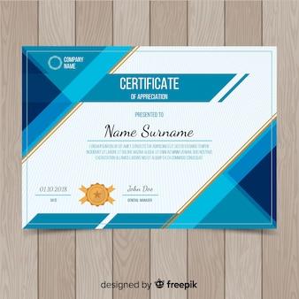 Design de modelo de certificado criativo
