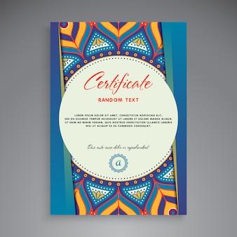 Design de modelo de certificado profissional