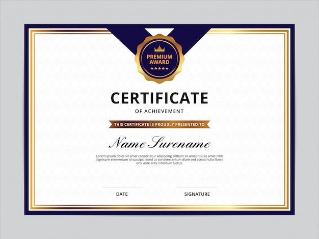 Design de modelo de certificado
