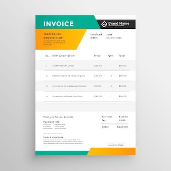 Design de modelo de citação de factura abstrata