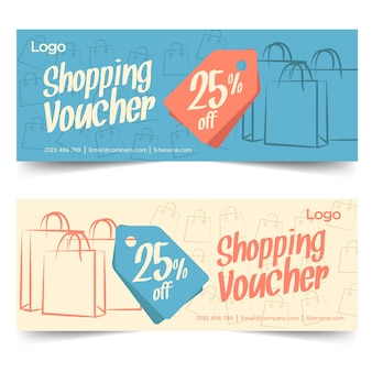 Design de modelo de comprovante de compras