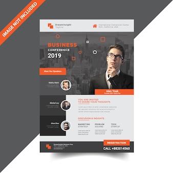 Design de modelo de conferência de negócios