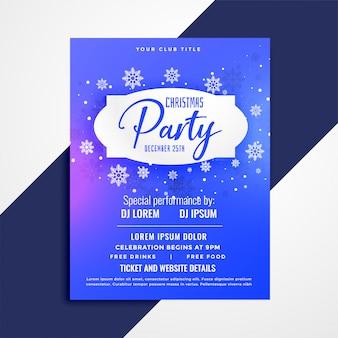 Design de modelo de convite de cartaz de festa de Natal
