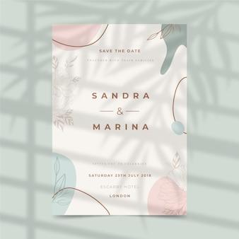 Design de modelo de convite de casamento