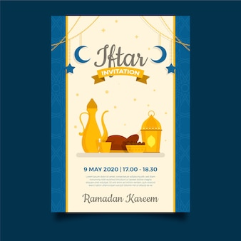 Design de modelo de convite iftar