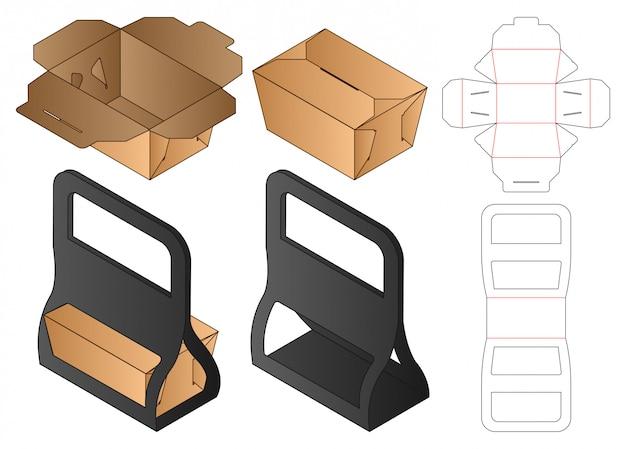 Design de modelo de corte de caixa de embalagem. 3d