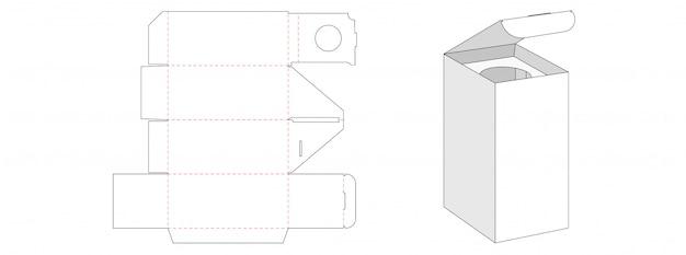 Design de modelo de corte de caixa de embalagem de cosméticos