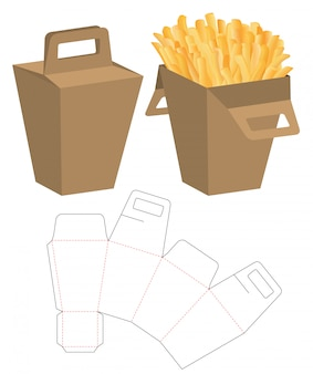 Design de modelo de corte de caixa de embalagem