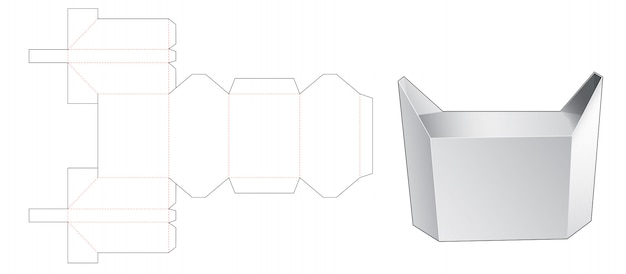 Design de modelo de corte de caixa de gato