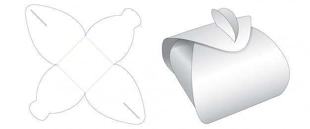 Design de modelo de corte de caixa de presente de embalagem dobrável