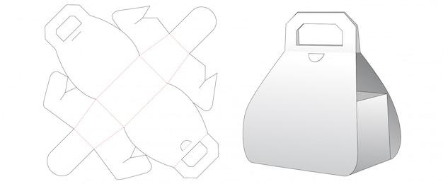 Design de modelo de corte de caixa de presente de papelão