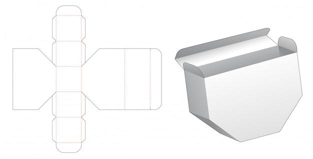 Design de modelo de corte de caixa hexagonal desigual