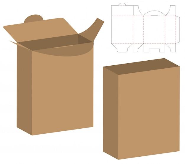 Design de modelo de corte de embalagem webbox