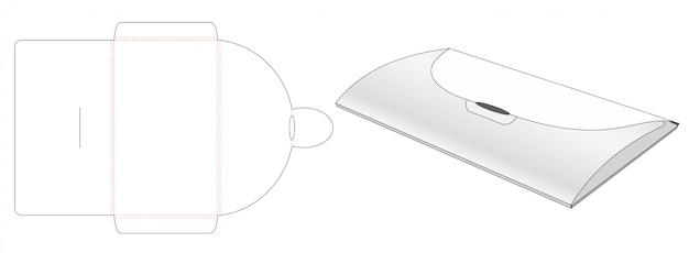Design de modelo de corte de papel de saco de envelope