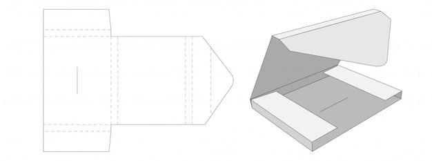 Design de modelo de corte e vinco de embalagem de mala direta