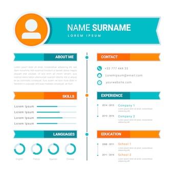 Design de modelo de currículo / currículo on-line