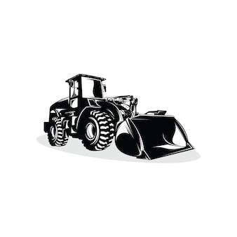 Design de modelo de design de logotipo de bulldozer