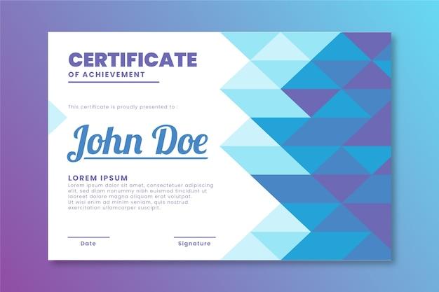 Design de modelo de diploma