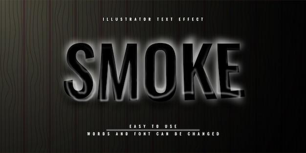 Design de modelo de efeito de texto editável dark smoke