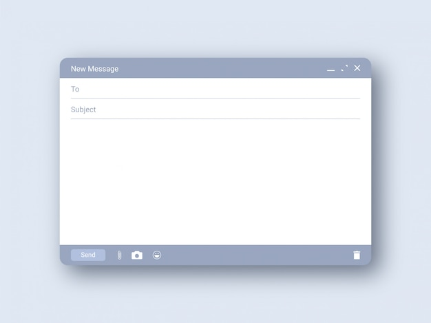 Design de modelo de email em branco Vetor Premium