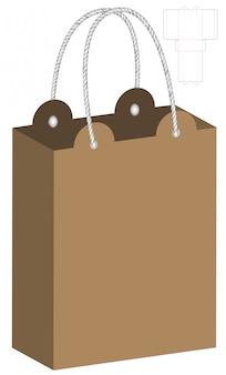 Design de modelo de embalagem de saco de papel