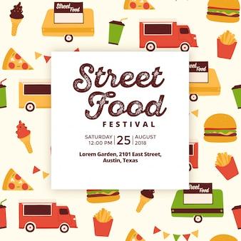 Design de modelo de evento de comida de rua