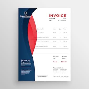 Design de modelo de factura profissional moderno