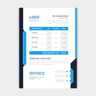 Design de modelo de fatura de fatura criativa