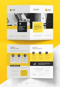 Design de modelo de folheto bifold de negócios