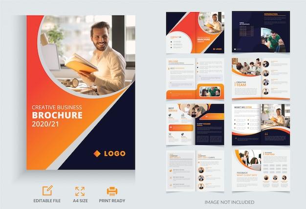 Design de modelo de folheto comercial