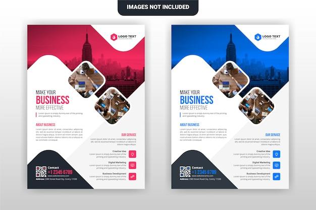 Design de modelo de folheto corporativo e comercial criativo