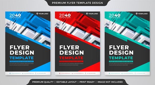 Design de modelo de folheto corporativo