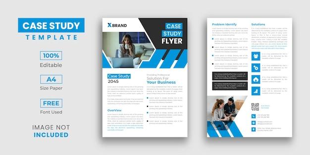 Design de modelo de folheto de estudo de caso