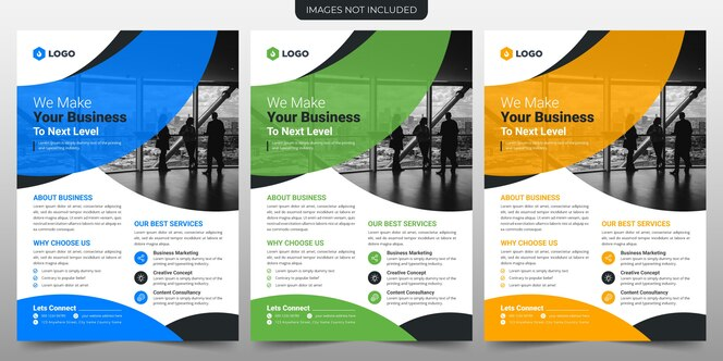 Design de modelo de folheto de negócios criativos