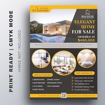 Design de modelo de folheto de negócios imobiliários