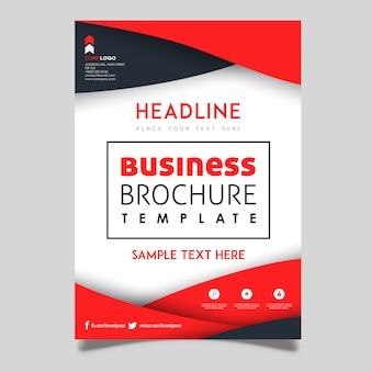 Design de modelo de folheto de negócios vetor colorido