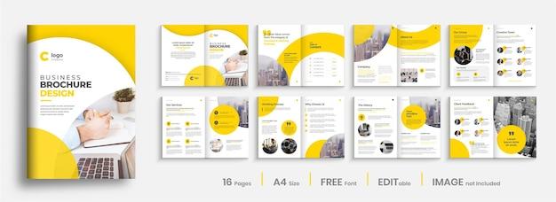 Design de modelo de folheto de perfil profissional