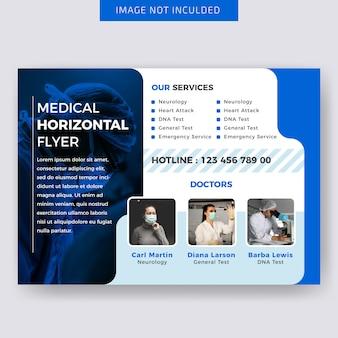Design de modelo de folheto horizontal médica