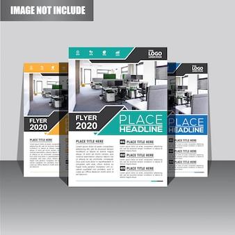 Design de modelo de folheto ou panfleto para capa de relatório anual