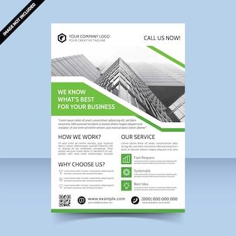 Design de modelo de folheto para agência de soluções de negócios