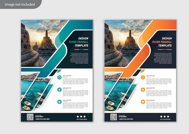 Design de modelo de folheto para relatório anual de layout de capa