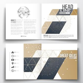 Design de modelo de folheto quadrado