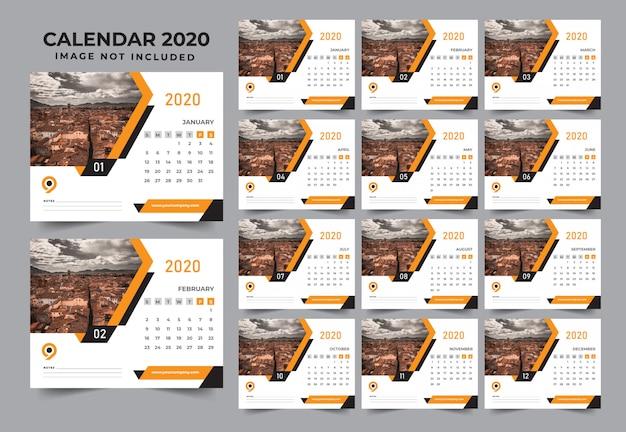 Design de modelo de forma moderna de calendário de ano novo