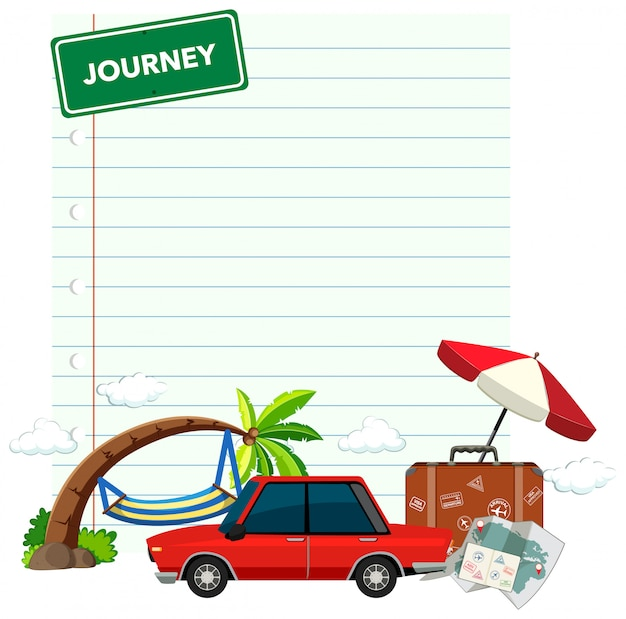 Design de modelo de fronteira com tema de férias