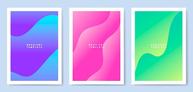Design de modelo de gradiente de onda colorida